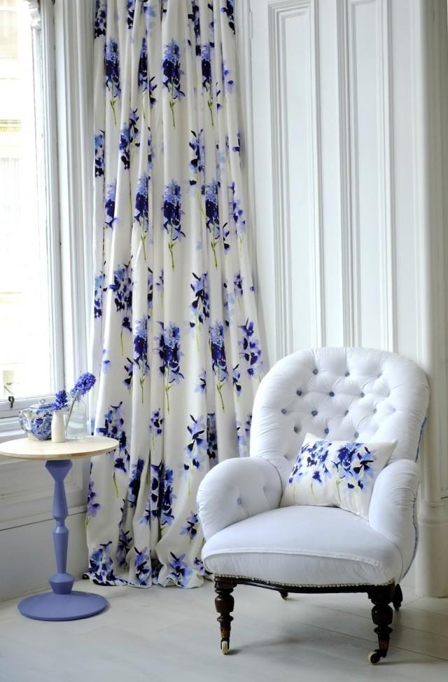 Navy Blue Floral Curtains Home Design Ideas
