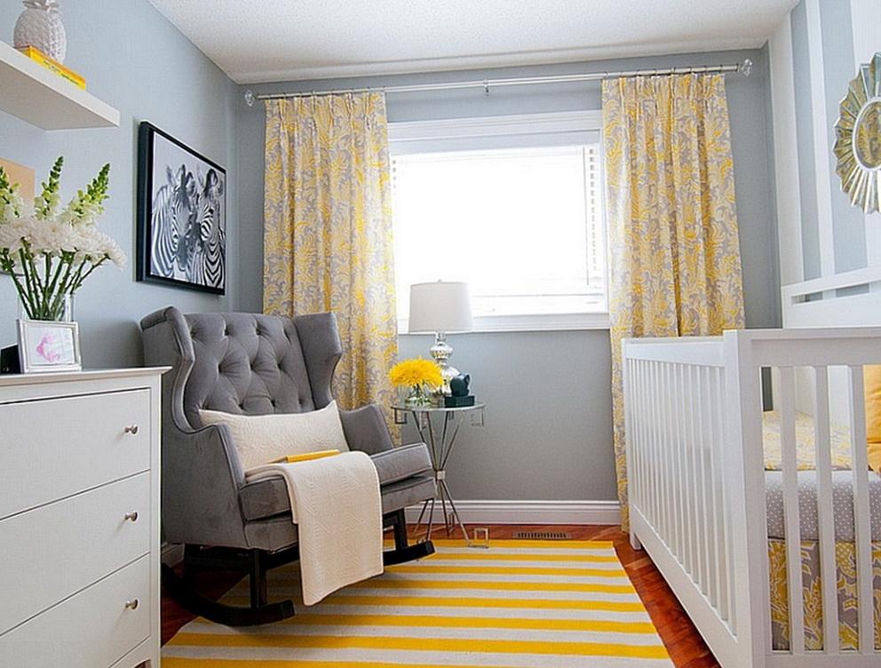 Yellow Curtains Gray Walls Home The Honoroak