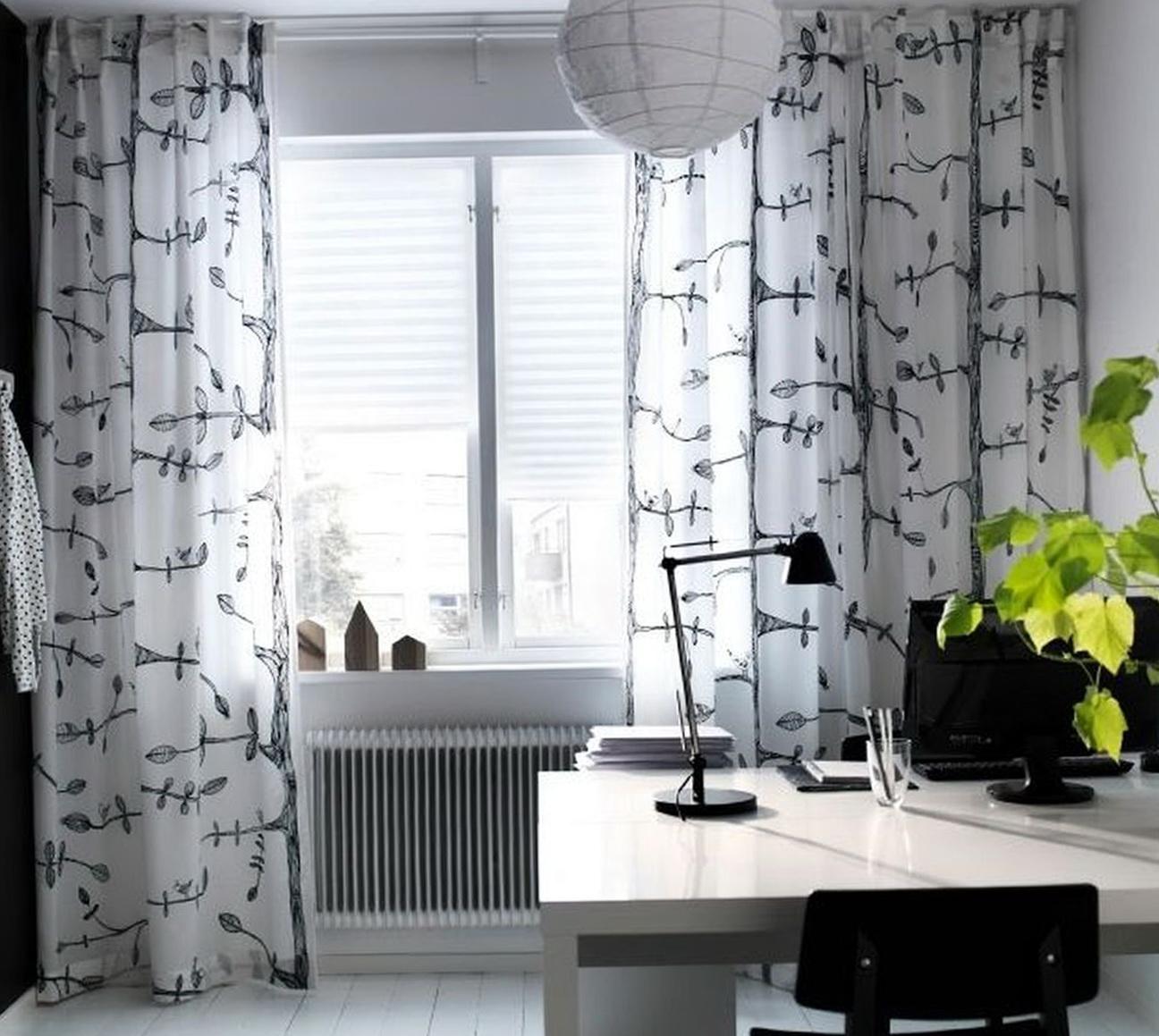 Ikea Curtains Black And White Home Design Ideas