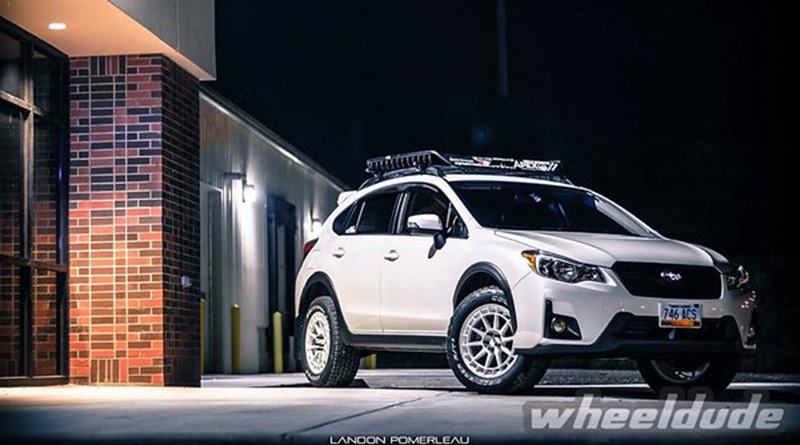 Aggressive wheel and tire packages... on a Subaru Crosstrek?