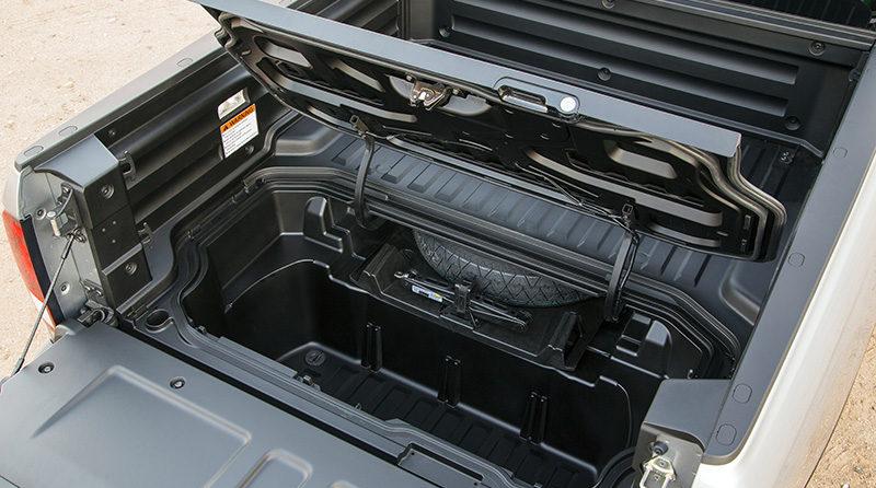The Honda Ridgeline's uni-body construction allows for unique cargo solutions in the midsize truck segment.