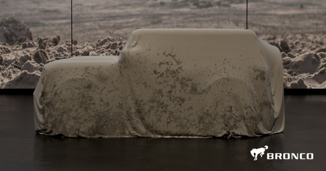 Still no word on a prototype or production car reveal of the new Ford Bronco.