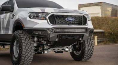 New products from Addictive Desert Designs include these wicked front bumpers for the 2019 Ford Ranger.