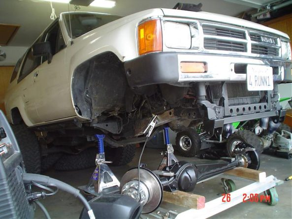 Solid axle swap on an '87 Toyota 4Runner.