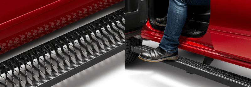 N-FAB step systems give a stylish boost to any stock or lifted truck.