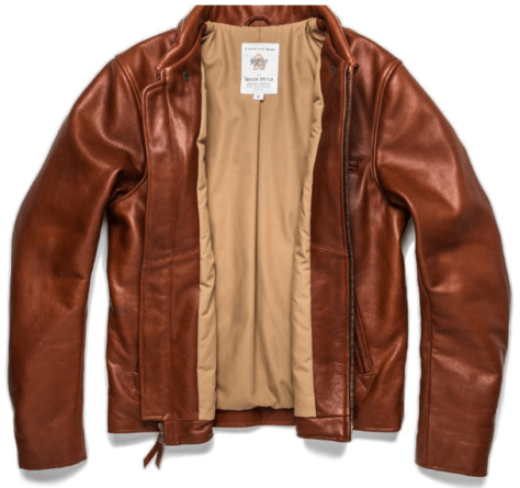 Next on our list of 12 Valentine's Day gifts for car lovers is this handmade leather moto jacket.