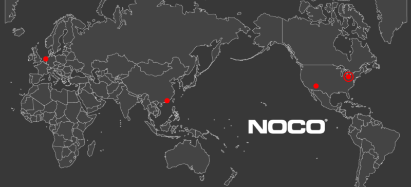 While always interested in growing and learning, NOCO has also stayed in touch with its roots. Headquarters are in Cleveland, R&D in Pheonix, and additional sales and distribution centers in the Netherlands and Hong Kong.