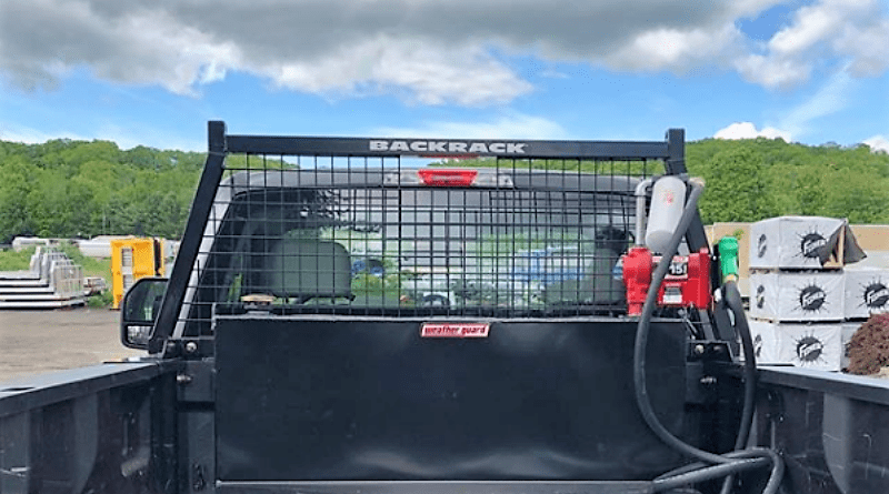 right truck rack with backrack