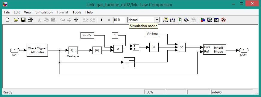 Mu-law compressor parameters in simulink, how mu-law compressor in designed in simulink