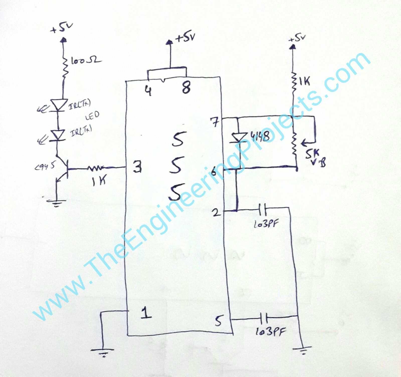 Timer Control Circuit Diagram Moreover Using 555