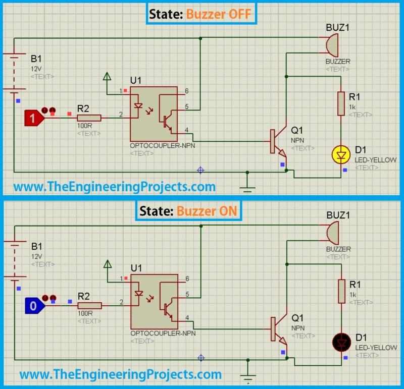 buzzer proteus, proteus buzzer, buzzer in proteus,proteus buzzer design
