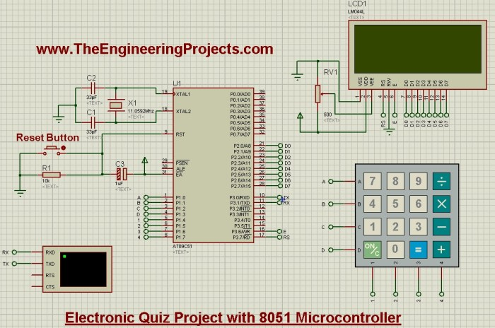 quiz project using 8051 microcontroller, quiz project with 8051 microcontroller, quiz project with 8051, final year quiz system with 8051