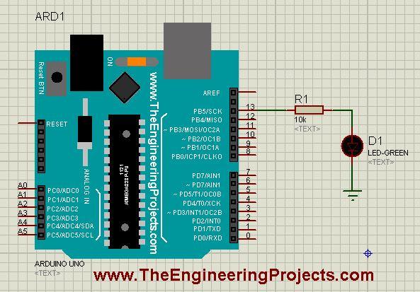 arduino led, arduino led example, led example in arduino, led arduino
