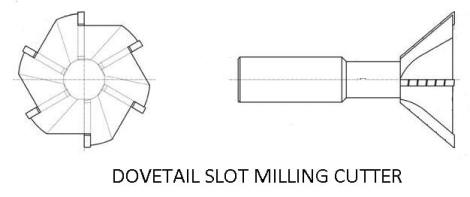 Dovetail slot milling cutter
