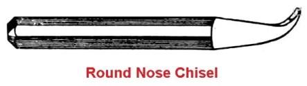 Round nose chisel