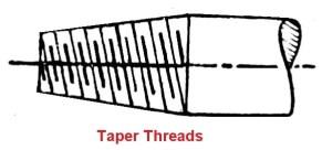 taper thread
