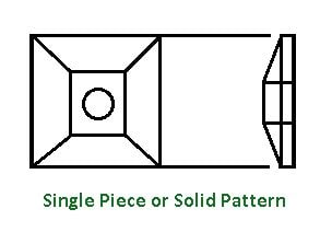 Types of Pattern - single piece or solid pattern