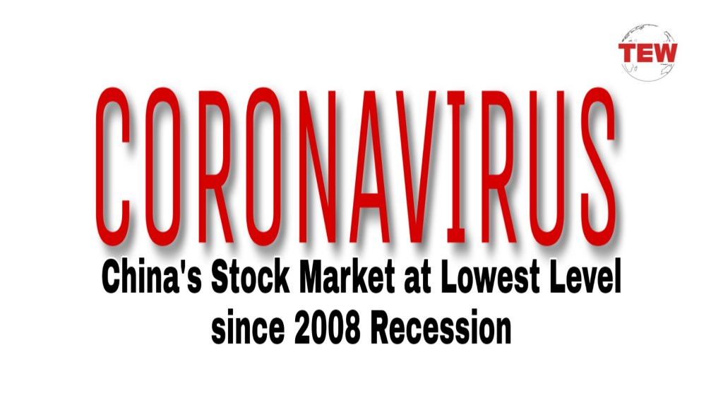 Coronavirus effect : Share Market at the lowest level in China, a huge decline in manufacturing.