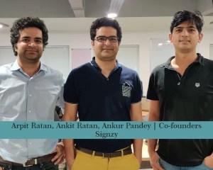 Arpit Ratan, Ankit Ratan, Ankur Pandey – Co Founders – Signzy