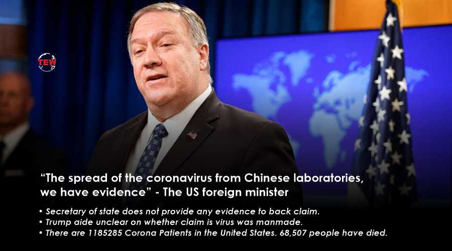 """The spread of the coronavirus from Chinese laboratories, we have evidence"" - The US foreign minister"