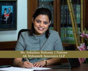 Ms. Subathra Mylsamy Partner- AK Mylsamy & Associates LLP