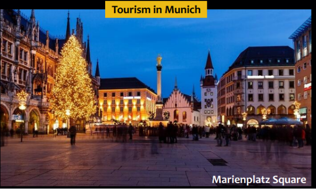 Marienplatz Square - Tourist palce in Munich, Germany