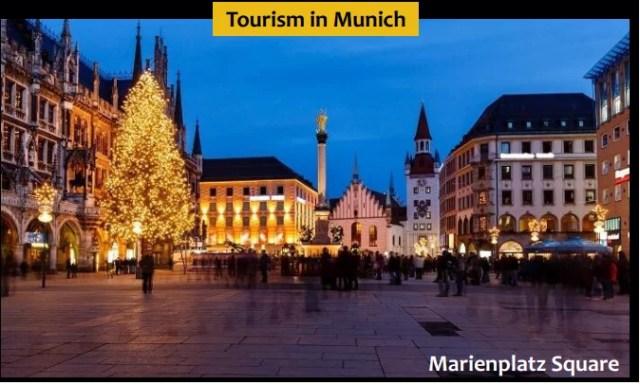 Marienplatz Square - Tourist palce in Munich, Germany