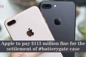 Apple to pay $113 million fine for the settlement of #batterygate case