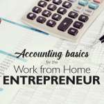 Accounting basics for the work from home entrepreneur