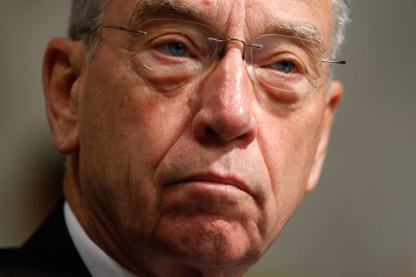 Ranking member Sen. Chuck Grassley (R-IA) listens during a hearing before the U.S. Senate Finance Committee on Capitol Hill, Sept. 23, 2009. (Alex Wong/Getty Images)