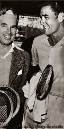 Image result for errol flynn and charles chaplin playing tennis