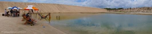 Freshwater lakes near Jericoacoara