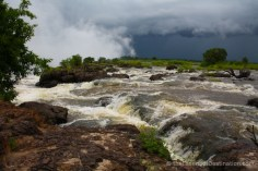 Zambezi river leading to Victoria Falls