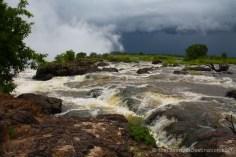 Zambezi river leading to Victoria Falls