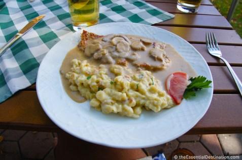Spaetzle and Schnitzel