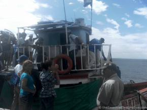 Boat to Ometepe