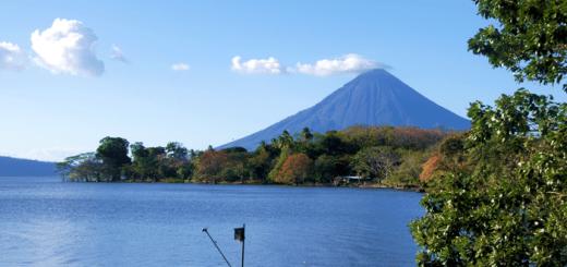 Vocan concepcion on Ometepe iIsland Nicaragua