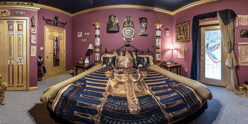 The Ever After Estates Egyptian Mummy Room King Sized Fun