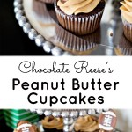 Chocolate Reese's Peanut Butter Cupcakes
