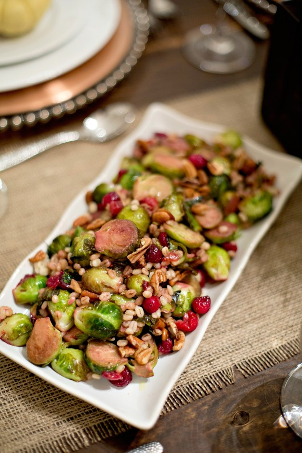 Cranberry and Walnut Maple Brussel Sprouts