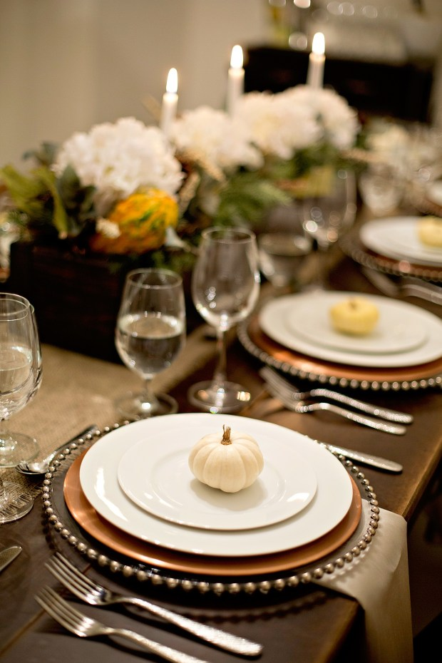 Tablesetting with candles