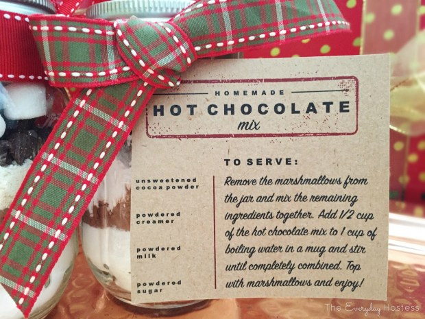 Hot Chocolate Mason Jar - Hot Chocolate Recipe Card