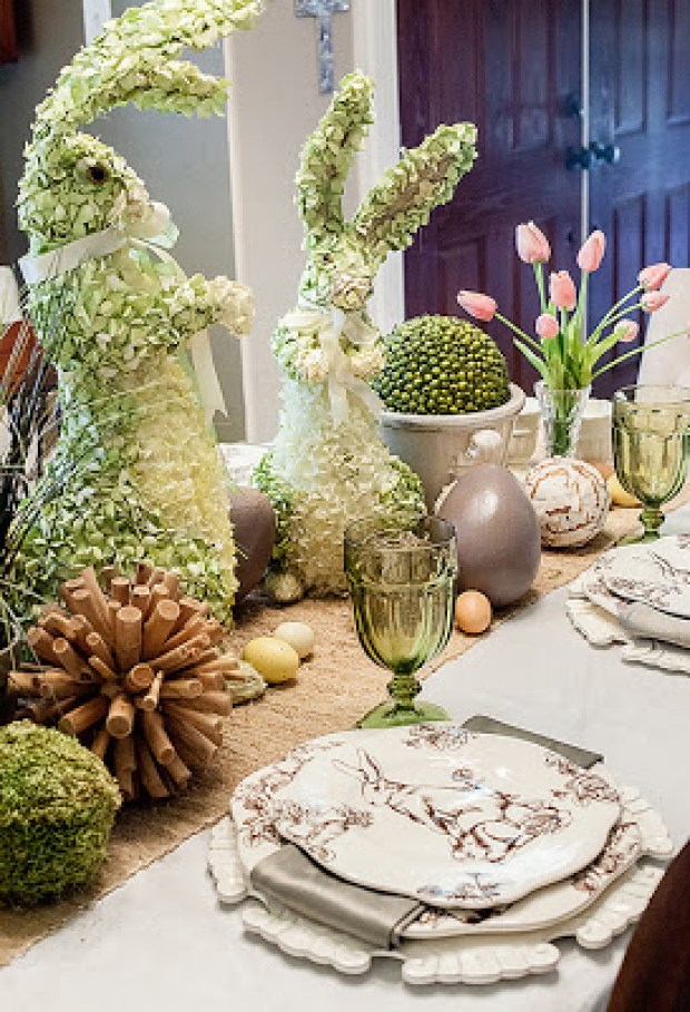 Easter tablescape dear lily