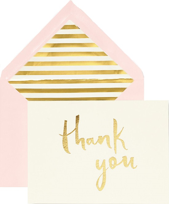 kate spade thank you note