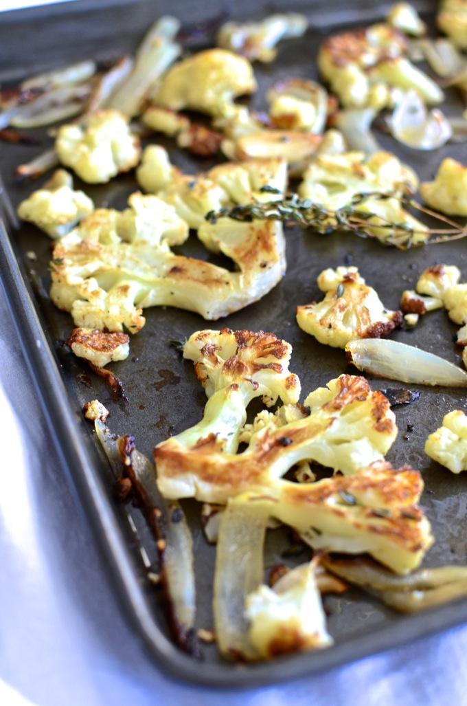 Thyme-Roasted Cauliflower at www.mybottomlessboyfriend.com