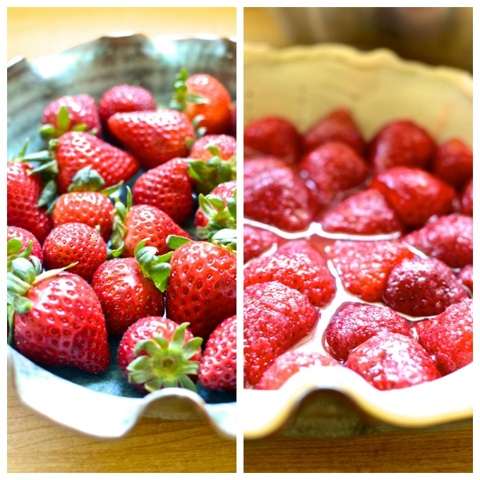 Strawberries for Strawberry Lemon Buttermilk Pie on www.mybottomlessboyfriend.com
