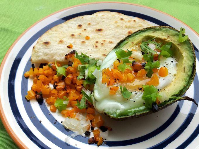 Eggs Baked Avocado at www.mybottomlessboyfriend.com