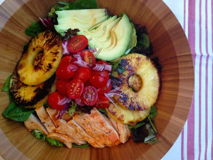 Sriracha Chicken Salad with Lime Vinaigrette. Get this summer recipe at www.mybottomlessboyfriend.com