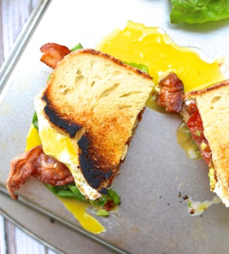 The Ultimate Sandwich, The BALTE: Bacon, Avocado, Lettuce, Tomato, with a runny Egg   www.mybottomlessboyfriend.com