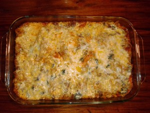 Spinach Pasta Yum Bake serves 8